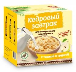 «Кедровый завтрак» для комфортного пищеварения с тыквой и грушей