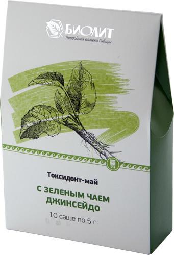 Токсидонт-май с зеленым чаем